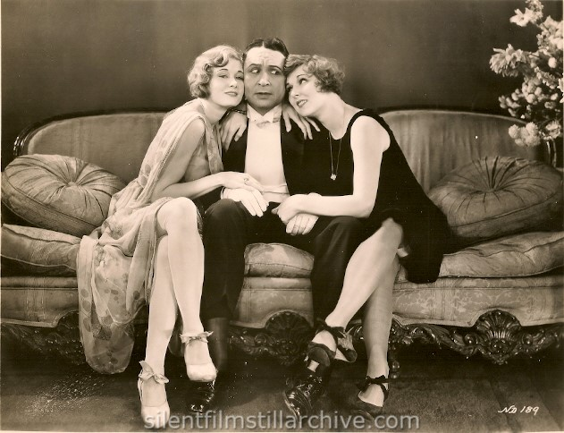 Kathryn Carver, Monte Blue and May McAvoy in NO DEFENSE (1929).