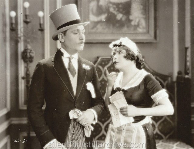 Lew Cody and Renée Adorée in ON ZE BOULEVARD (1928).