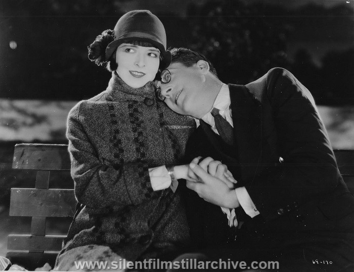 Colleen Moore and Jack Mulhall in ORCHIDS AND ERMINE (1927)