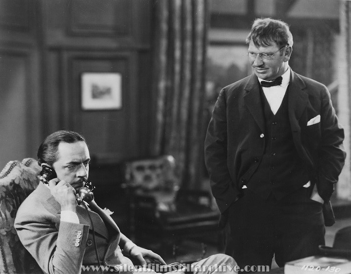 William Powell and Wallace Beery in PARTNERS IN CRIME (1928)