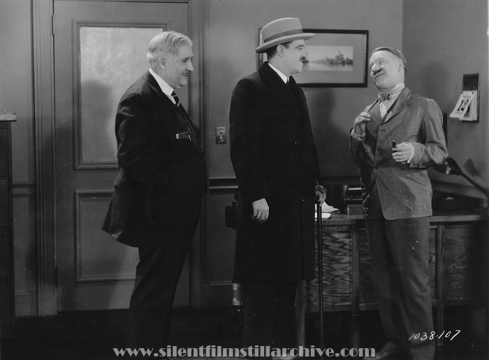 Joseph Smiley, unknown, and W. C. Fields in THE POTTERS (1927)