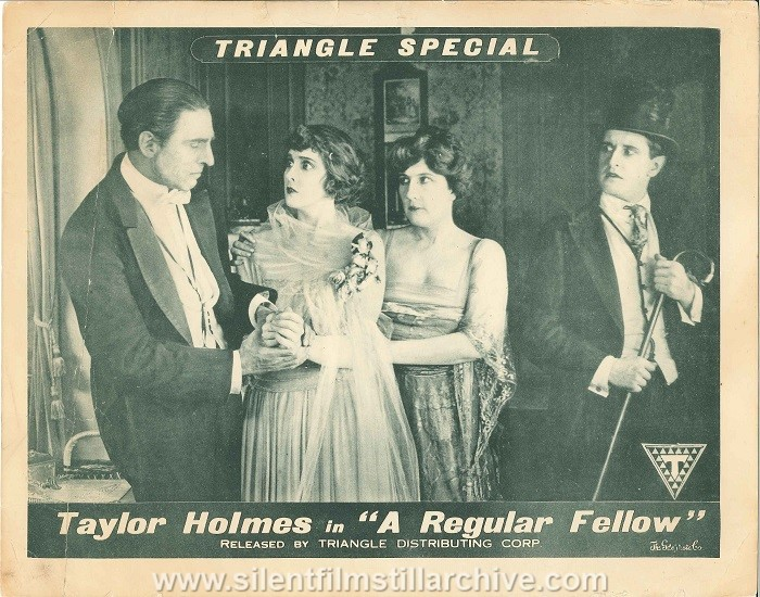 Lobby card with Millicent Fisher and Taylor Holmes in A REGULAR FELLOW (1919)
