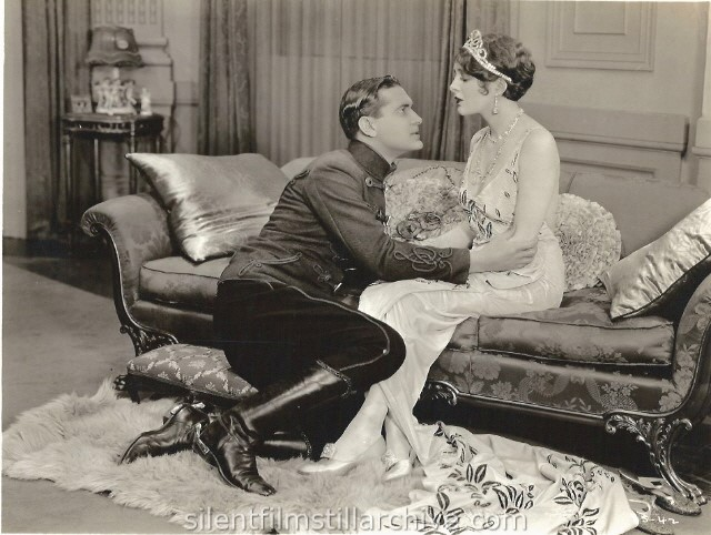 Billie Dove and Lloyd Hughes in THE STOLEN BRIDE (1927)