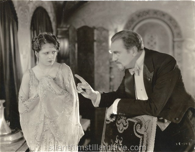 Billie Dove and Montague Love in THE TENDER HOUR (1927).
