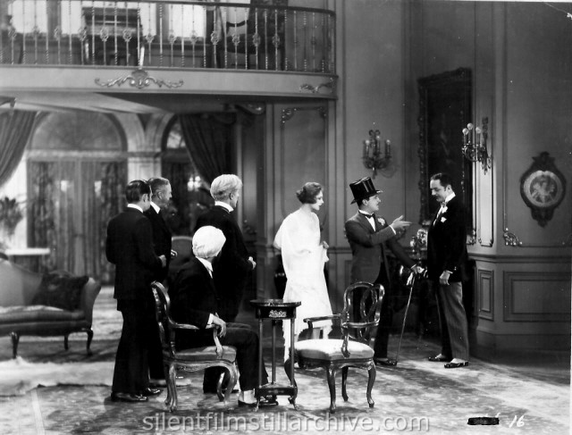 Vera Voronina, Raymond Griffith and William Powell in TIME TO LOVE(1927)
