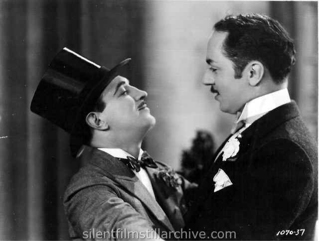 Raymond Griffith and William Powell in TIME TO LOVE (1927)