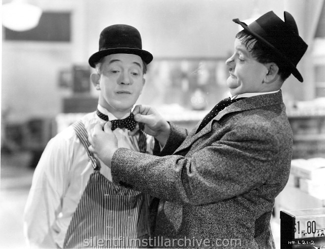 Stan Laurel and Oliver Hardy in TIT FOR TAT (1935)