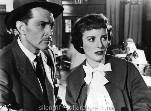 Kent Taylor and Petula Clark in TRACK THE MAN DOWN (1955)