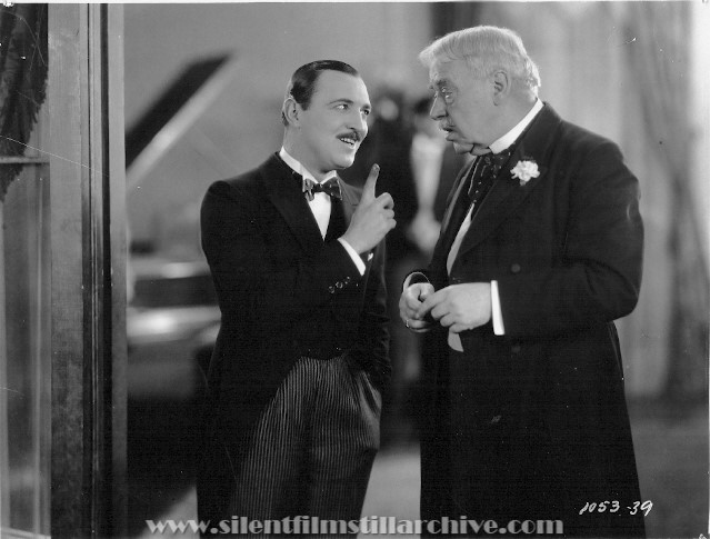 Raymond Griffith and Tom Guise in WEDDING BILL$ (1927)