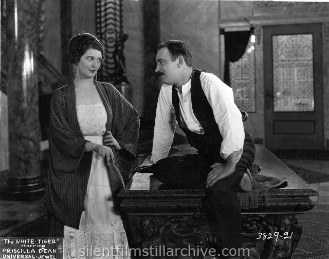 Priscilla Dean and Raymond Griffith in WHITE TIGER (1923)
